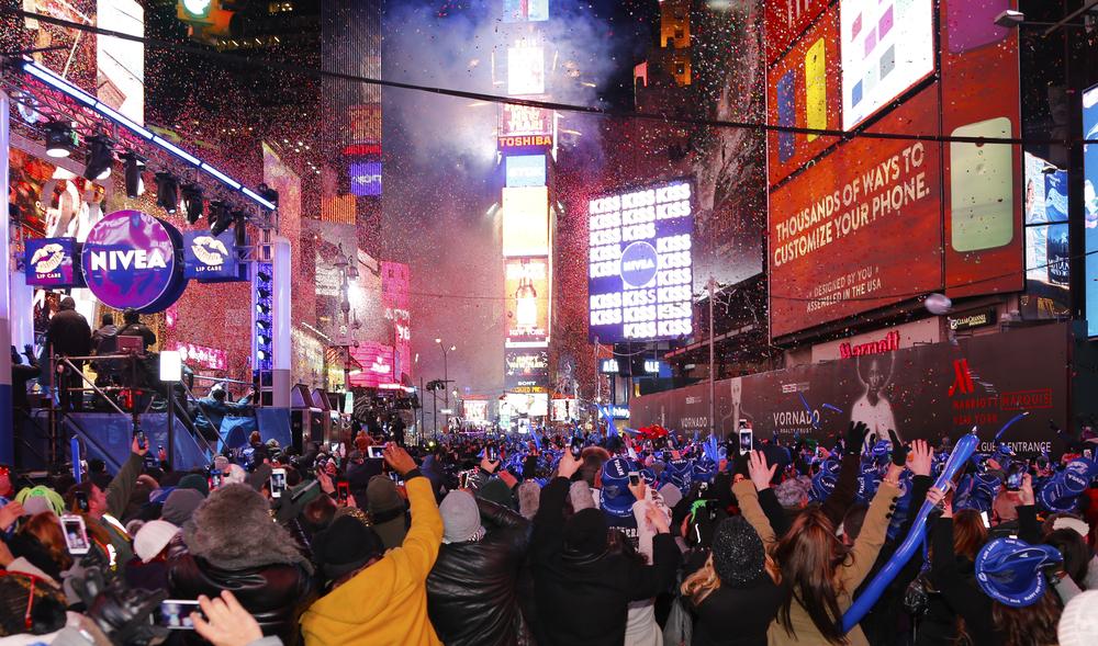 Sylwester na Times Square w Nowym Jorku
