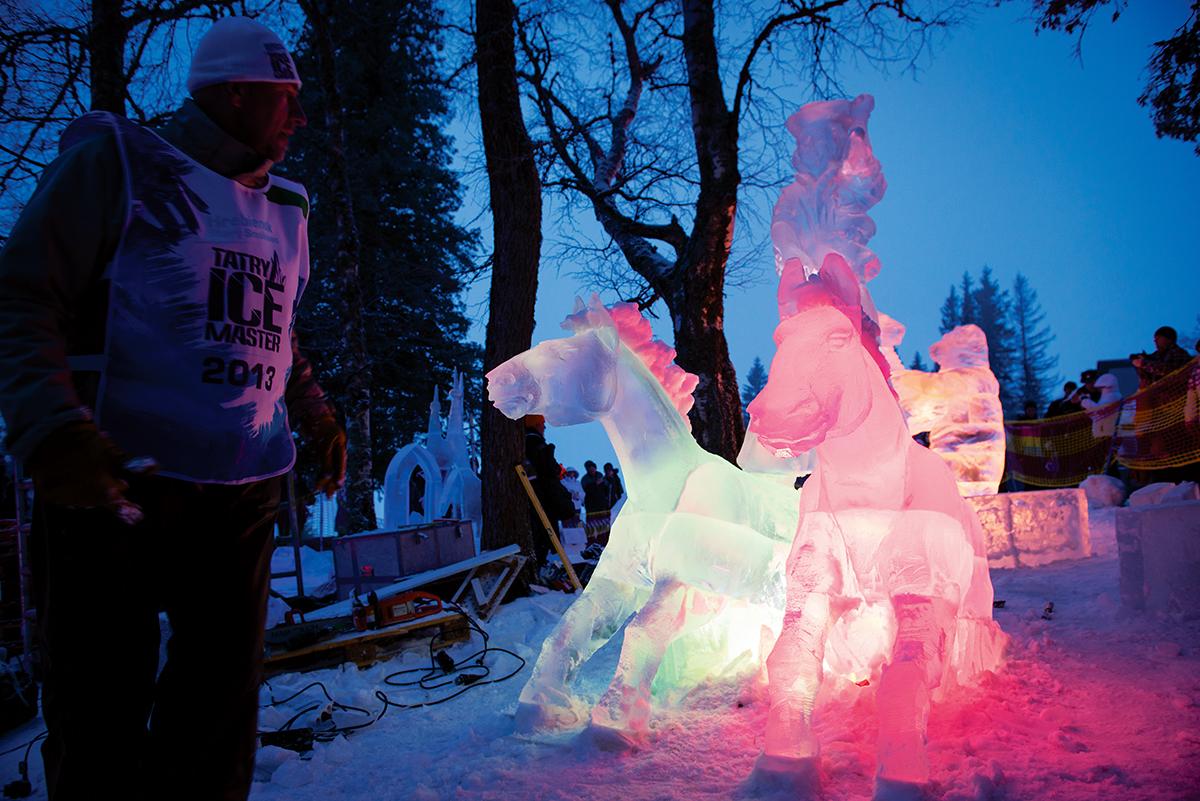 Stary Smokowiec, galeria rzeźb lodowych na Hrebienoku