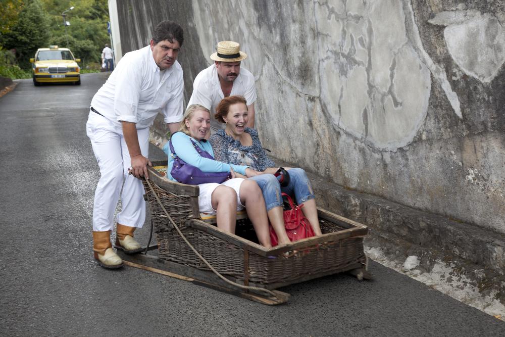 Madera - zjazd saniami ze wzgórza Monte