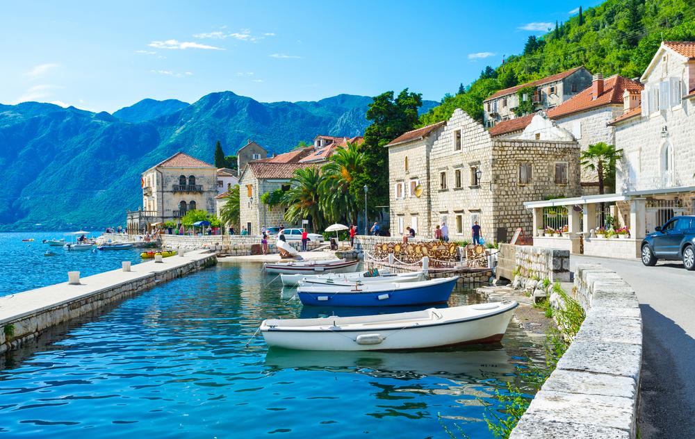 Czarnogóra, przystań w Peraście